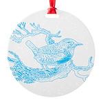 bird1_aq.png Round Ornament