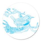 bird1_aq.png Round Car Magnet