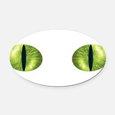 Cat Eyes Oval Car Magnet