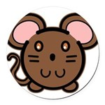 mousie-br.png Round Car Magnet