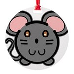 mousie-grey.png Round Ornament