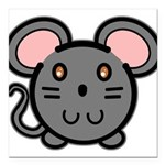 mousie-grey.png Square Car Magnet 3