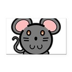 mousie-grey.png Rectangle Car Magnet