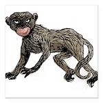 monkey-creepy.png Square Car Magnet 3