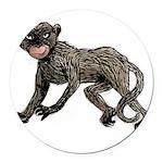 monkey-creepy.png Round Car Magnet