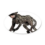 monkey-creepy.png Oval Car Magnet