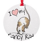 fancy-rat-new.png Round Ornament