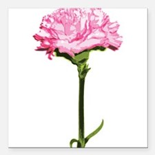 """PINK-CARNATION_NEW.png Square Car Magnet 3"""" x 3"""""""