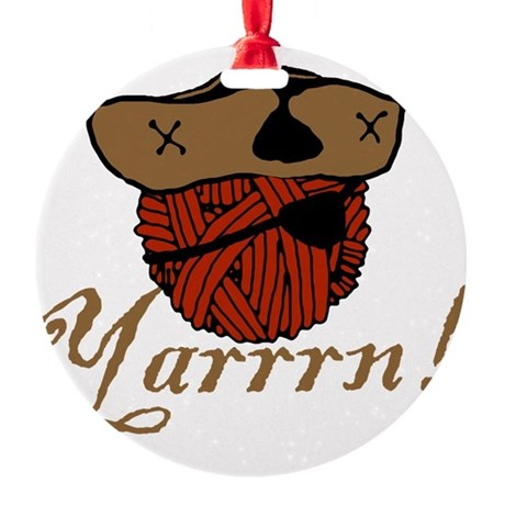 yarrrn.png Round Ornament