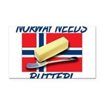 norway-needs-butter.png Rectangle Car Magnet
