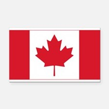 Canadian Flag Rectangle Car Magnet