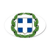 Greece Oval Car Magnets