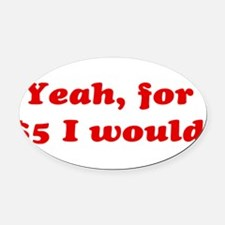 Funny Stupid Oval Car Magnet