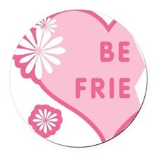 best-friends-pink-new_l.png Round Car Magnet