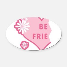 best-friends-pink-new_l.png Oval Car Magnet
