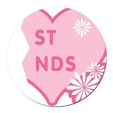 best-friends-pink-new_r.png Round Car Magnet