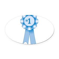 blue-prizeribbon_new.png Oval Car Magnet