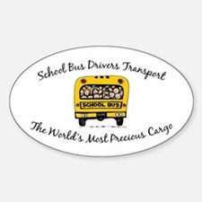 School Bus Drivers Oval Decal