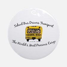 School Bus Drivers Ornament (Round)