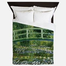 Monet Japanese Bridge Queen Duvet