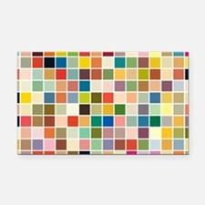 random-color-blocks.png Rectangle Car Magnet