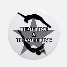 Tumbling and trampoline Ornament (Round)