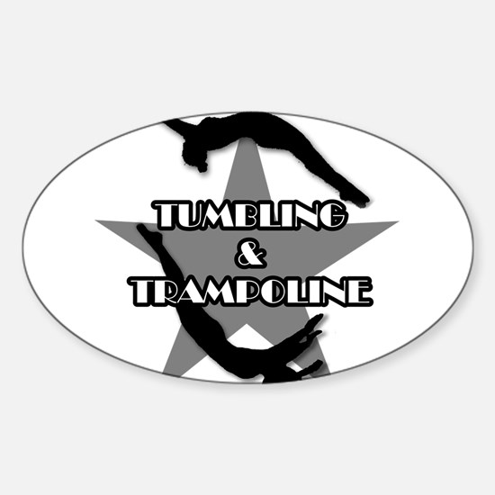 Tumbling and trampoline Sticker (Oval)