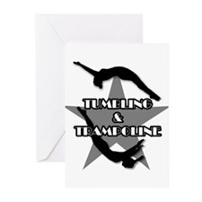 Tumbling and trampoline Greeting Cards (Pk of 10)