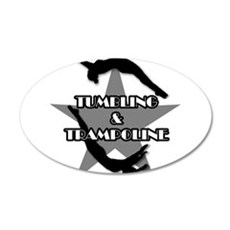 Tumbling and trampoline 35x21 Oval Wall Decal