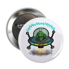 "Alien Spaceship 2.25"" Button"