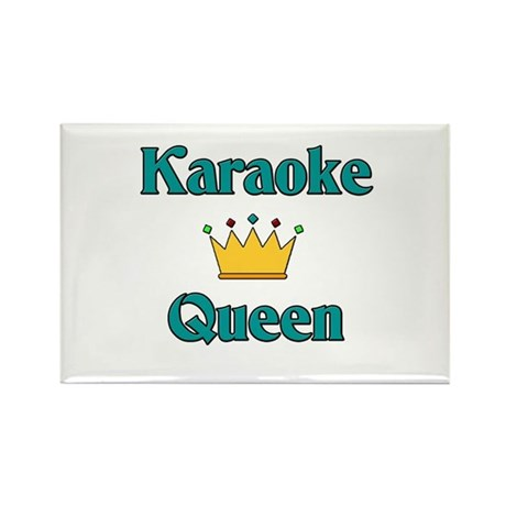 Karaoke Queen Rectangle Magnet