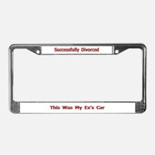 This was my ex's Divorce License Plate Frame Gift