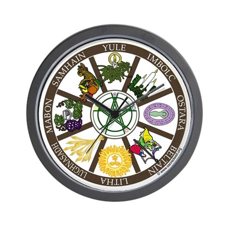 Wheel of the Year Wall Clock