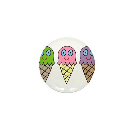 Triple Cones! Mini Button