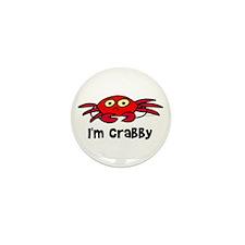 I'm crabby Mini Button (10 pack)
