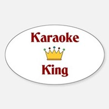 Karaoke King Oval Decal