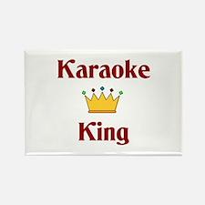 Karaoke King Rectangle Magnet