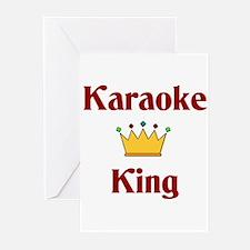 Karaoke King Greeting Cards (Pk of 10)