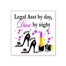 "LEGAL ASSISTANT Square Sticker 3"" x 3"""
