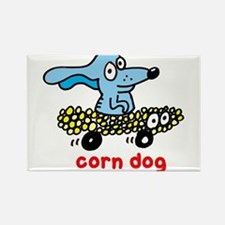 Corn dog on wheels Rectangle Magnet