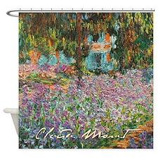 Irises In Monet's Garden Shower Curtain