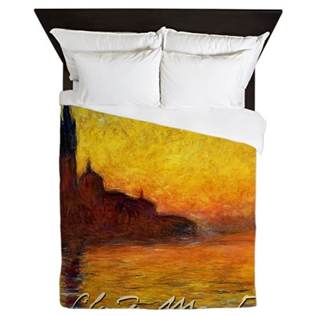 Monet Twilight Venice Queen Duvet