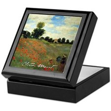 Monet Wild Poppies near Argenteuil Keepsake Box