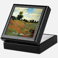 Monet Wild Poppies near Argenteuil Keepsake Box