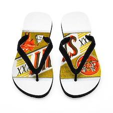 Chile Beer Label 3 Flip Flops