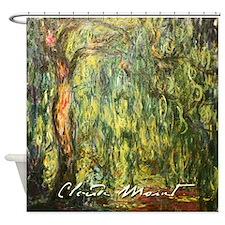 Claude Monet weeping Willow Shower Curtain