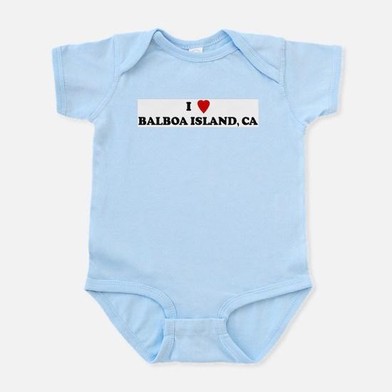 I Love BALBOA ISLAND Infant Creeper