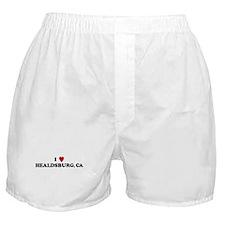 I Love HEALDSBURG Boxer Shorts
