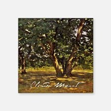 "Monet Fontainebleau Forest Square Sticker 3"" x 3"""