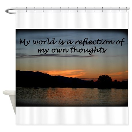 Words of affermations 2 Shower Curtain